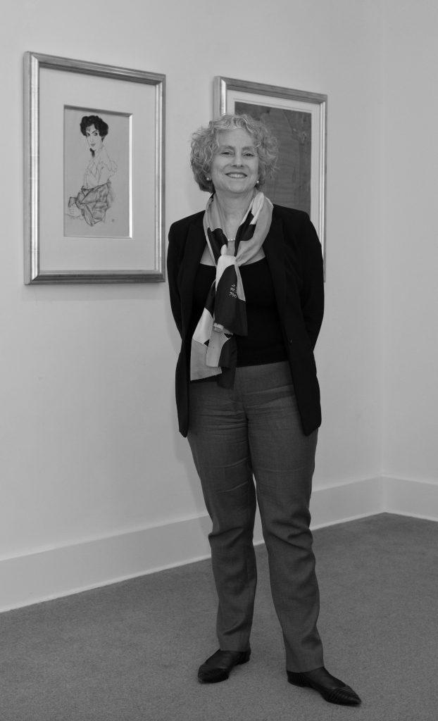 Black and white photograph of Jane Kallir. Photographer: Julienne Schaer.