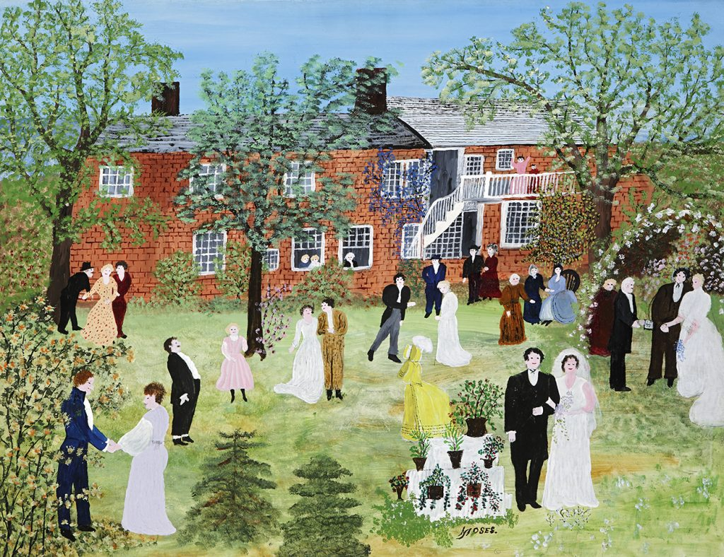 """""""A Country Wedding"""" painting by Grandma Moses"""