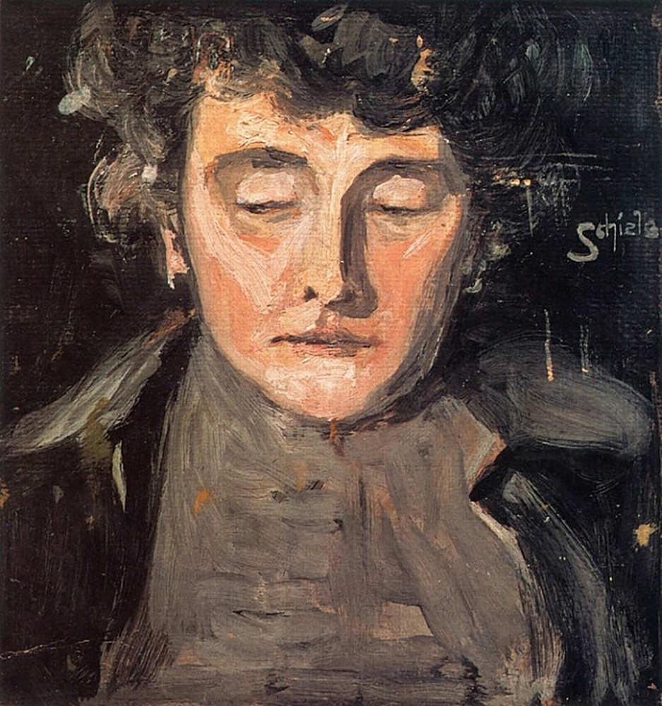 """Painting """"Portrait of the Artist's Mother"""" by Egon Schiele"""