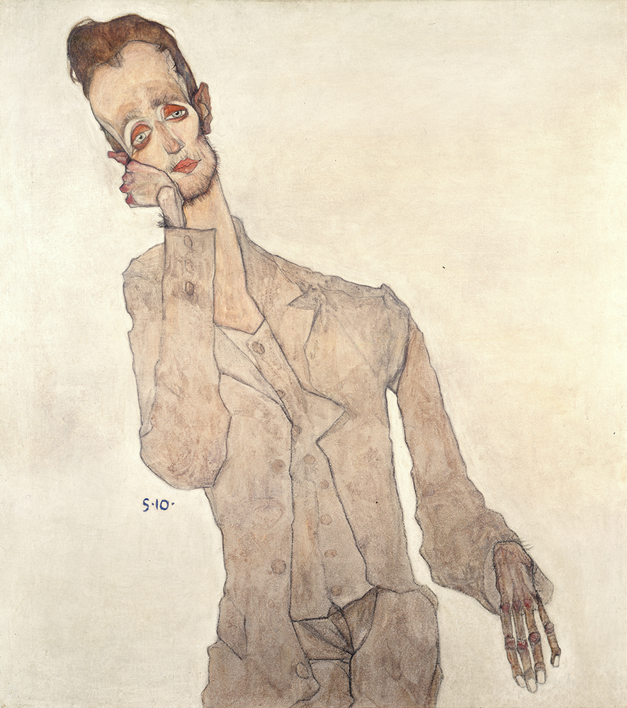 "Painting ""Portrait of the Painter Karl Zakovsek"" by Egon Schiele"