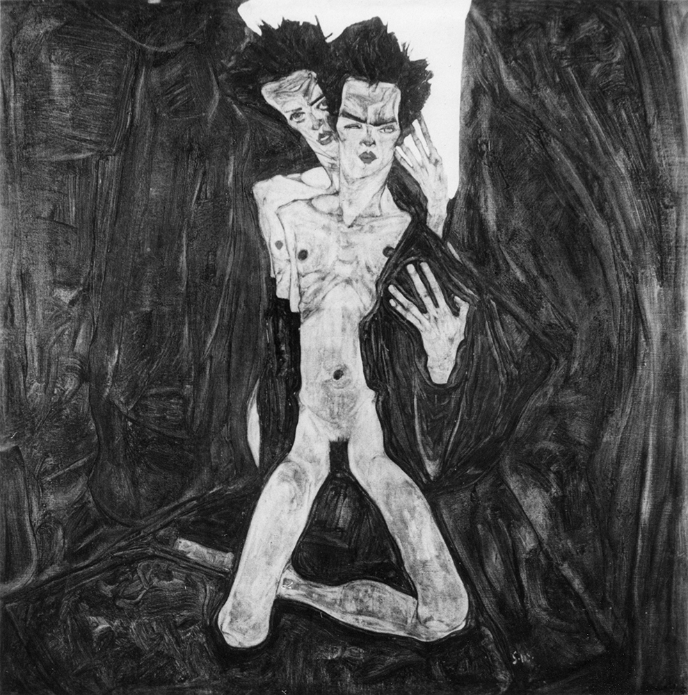 """Painting """"The Self-Seers I"""" by Egon Schiele"""