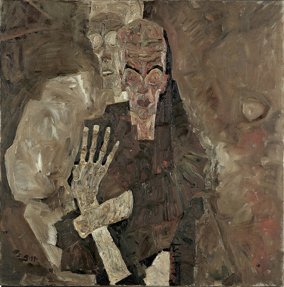 """Painting """"The Self-Seers II (Death and Man)"""" by Egon Schiele"""