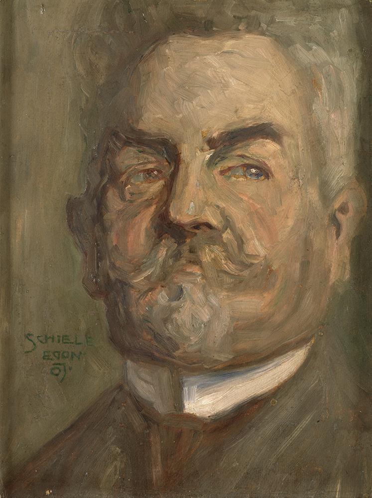 "Painting ""Head of a Bearded Man I (Leopold Czihaczek) by Egon Schiele"