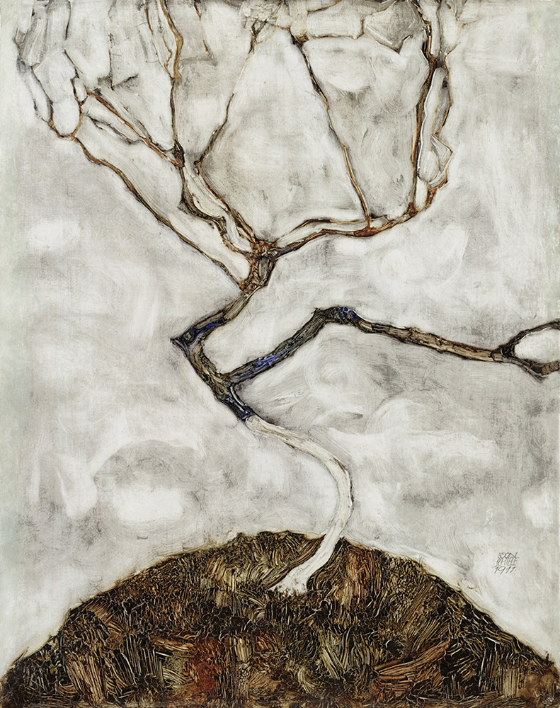 """Painting """"A Tree in Late Autumn"""" by Egon Schiele"""