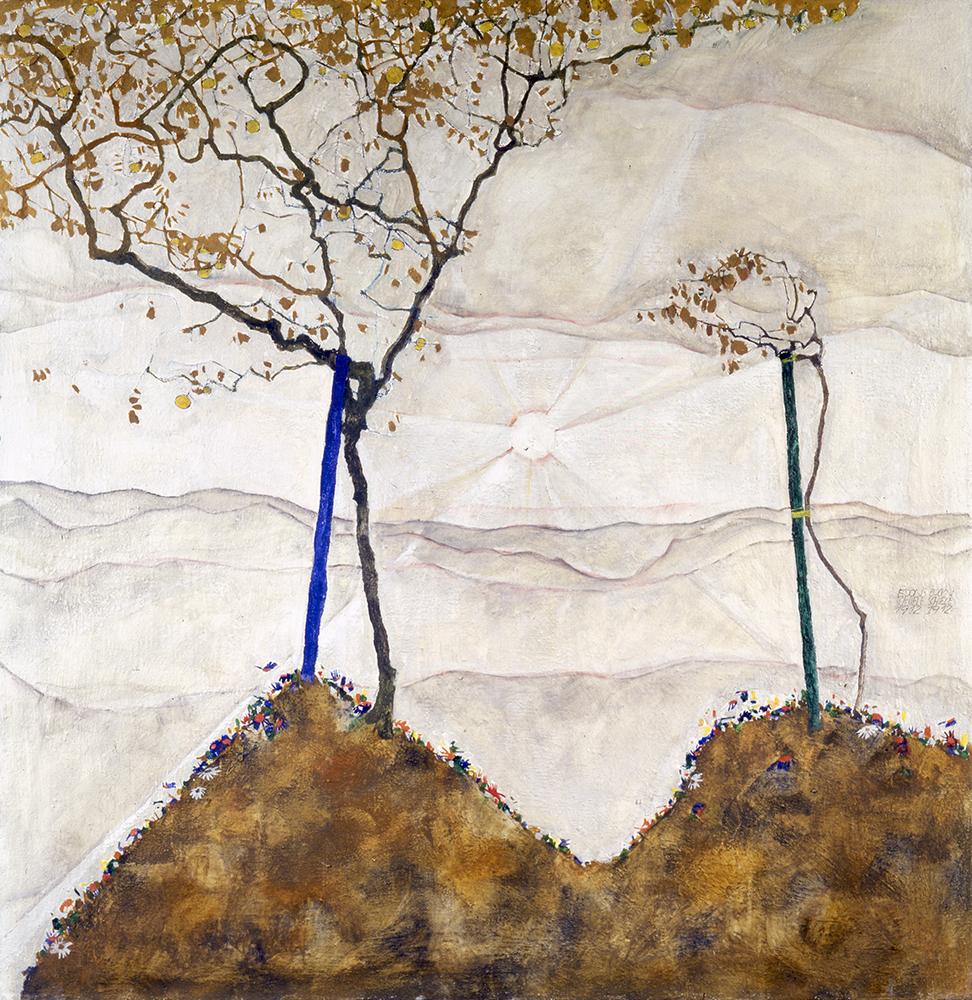 "Painting ""Autumn Sun I (Sunrise)"" by Egon Schiele"