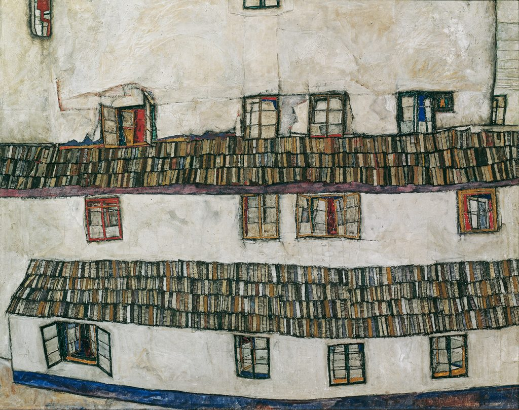 """Painting """"Facade of a House"""" by Egon Schiele"""