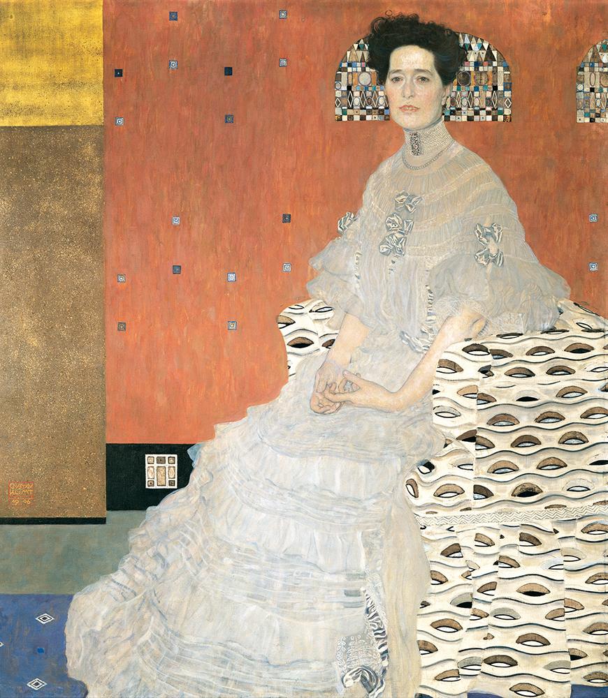 "Painting of ""Fritza Riedler"" by Gustav Klimt"